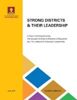 Strong districts and their leadership 2013 cover